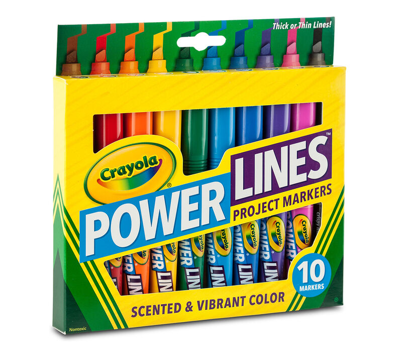 10ct Power Lines Washable Project Markers with Scents