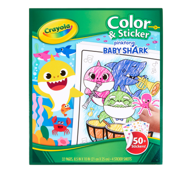 Baby Shark Color and Sticker Book