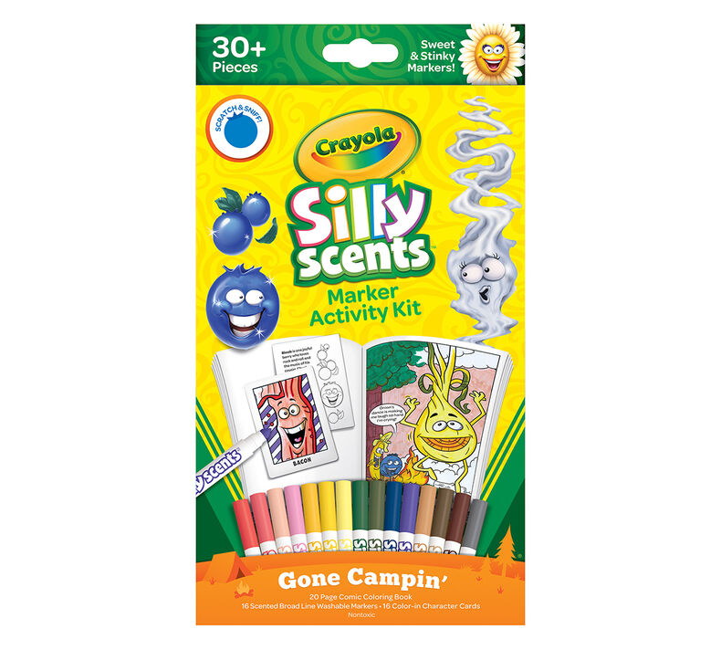 Silly Scents Marker Activity Kit, Gone Campin
