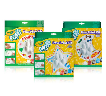 Crayola Pets Paw Print Keepsake Kit, Choose Your Shape