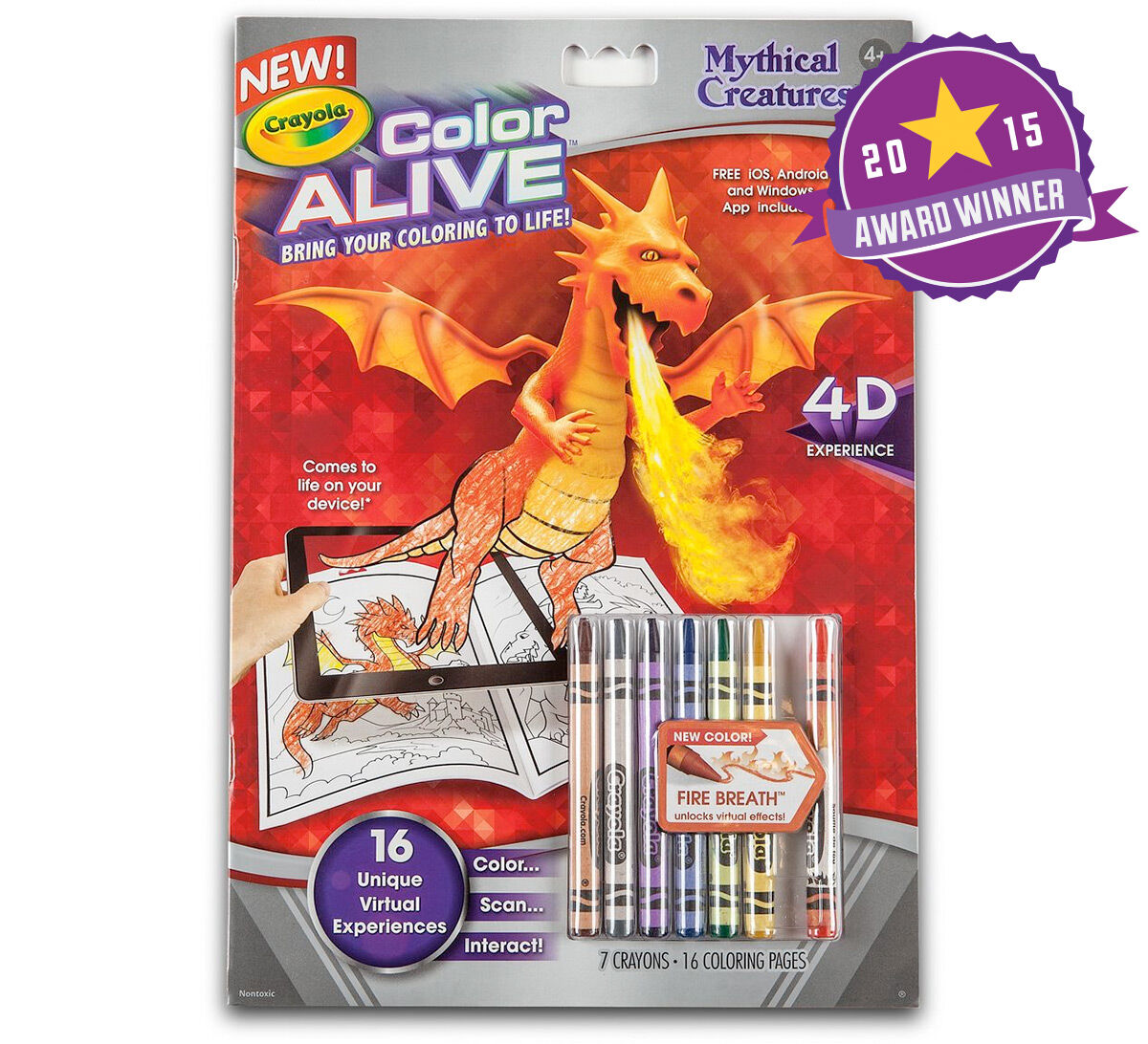 color alive mythical creatures - Crayola Color Alive Special Pages