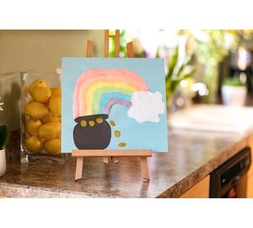 DIY Puffy Paint Rainbow