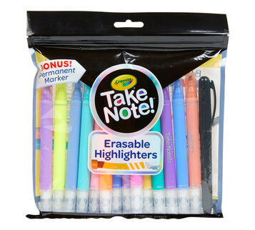 Take Note 14 COunt Erasable Highlighters & 1 Bonus Permanent Marker
