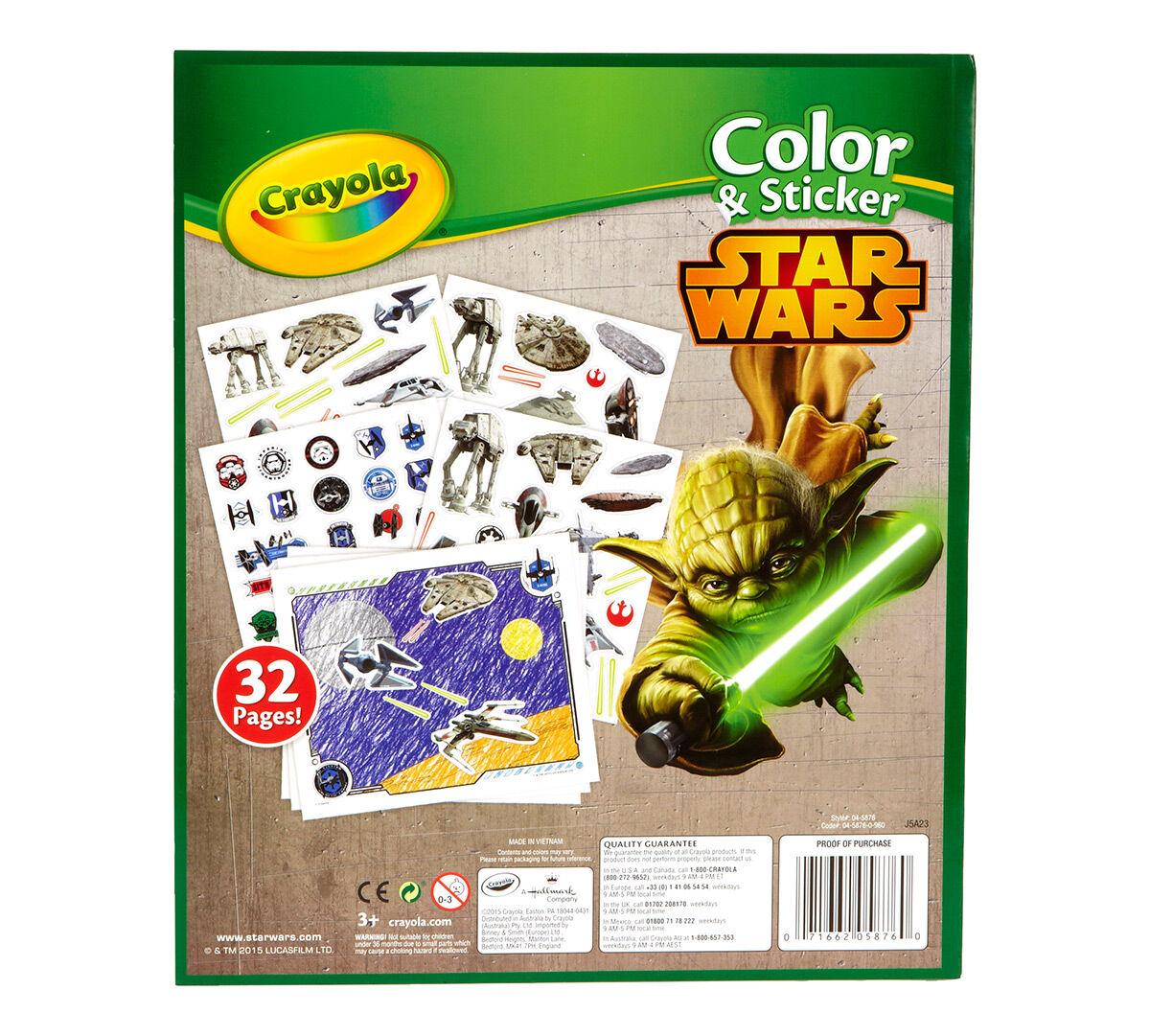 Crayola Color Sticker Book Star Wars Crayola