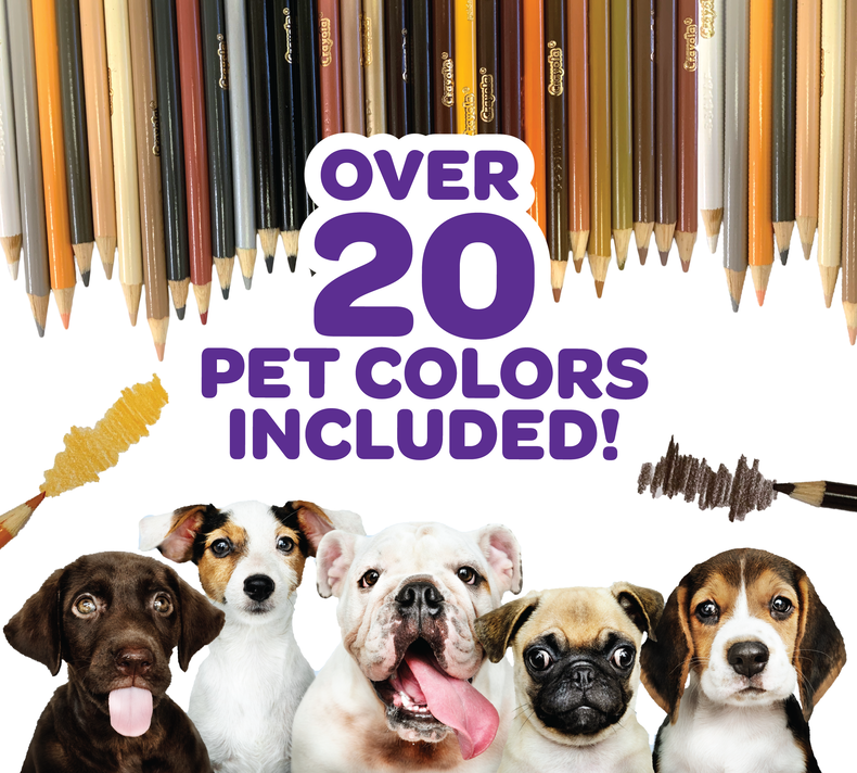 Crayola Pets Colored Pencils, 50 Count