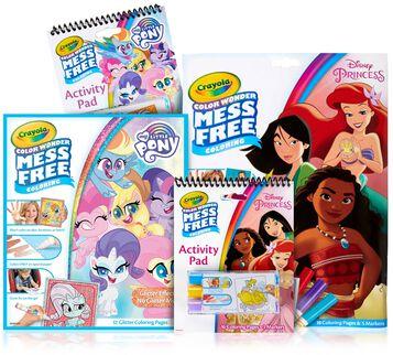 Color Wonder Mess Free Disney Princess & My Little Pony Set