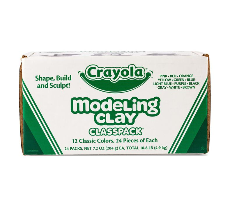 Modeling Clay Classpack, 288 Count, 12 Colors