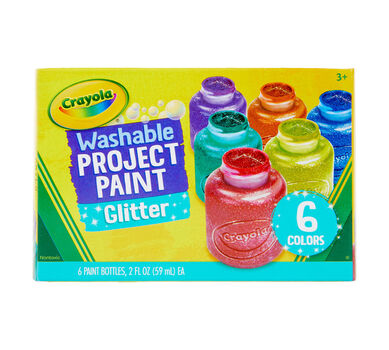 Washable Glitter Paint, 6 Count