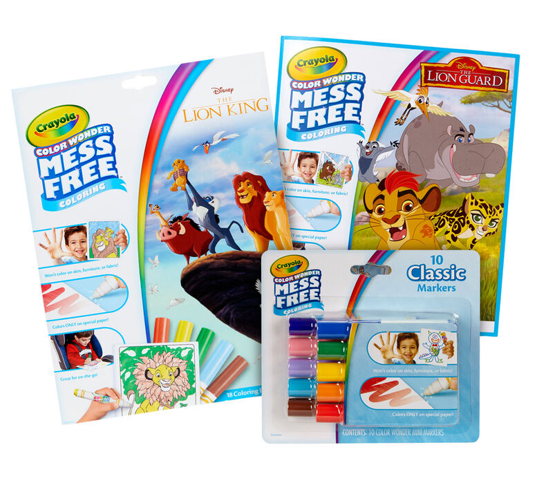 Color Wonder Mess Free Lion King and Lion Guard Coloring Set