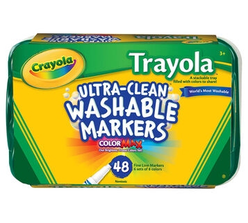 Ultra-Clean Markers, Fine Line, Trayola, 48 ct.