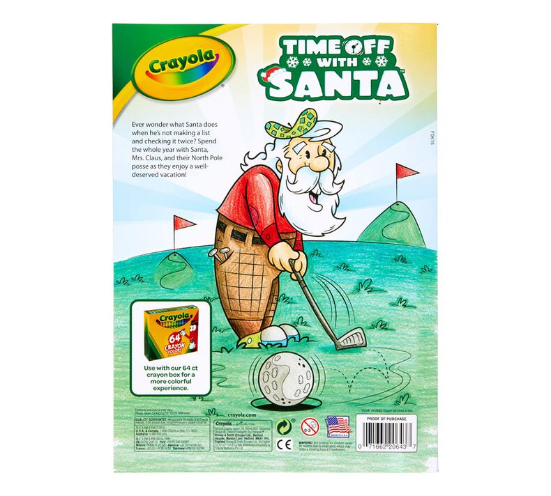 Time off with Santa Coloring Book