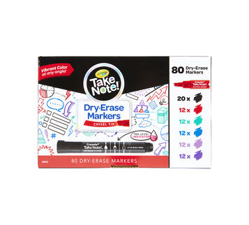 Take Note Black Dry Erase Markers Classpack, 80 Count Front View