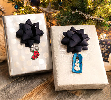 3D Winter Holiday Gift Tags Craft Kit  Finished Craft