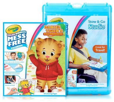 Color Wonder Mess Free Daniel Tiger's Neighborhood Stow and Go Gift Set