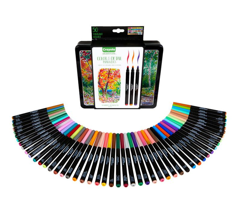 Signature Color & Detail Markers, 50 Count