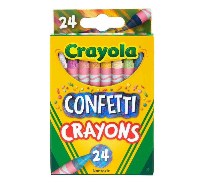 Confetti Crayons, 24 Count