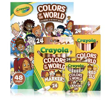4-in-1 Colors of the World Coloring Set