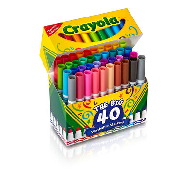 crayola ultra clean broad line markers art tools 6 packs of 40