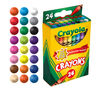 Classic Crayons, 24 Count Made with Solar Power with 24 Color Swatches