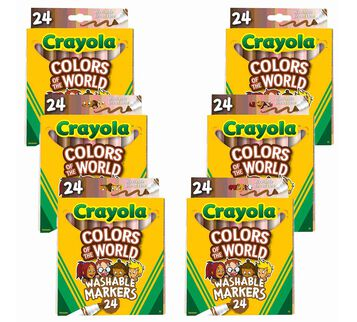 Colors of the World Bulk Marker Set, 6 Boxes of 24 Markers front view