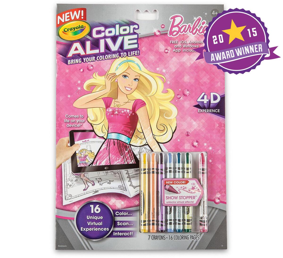 Worksheet. Color Alive  Barbie  Crayola