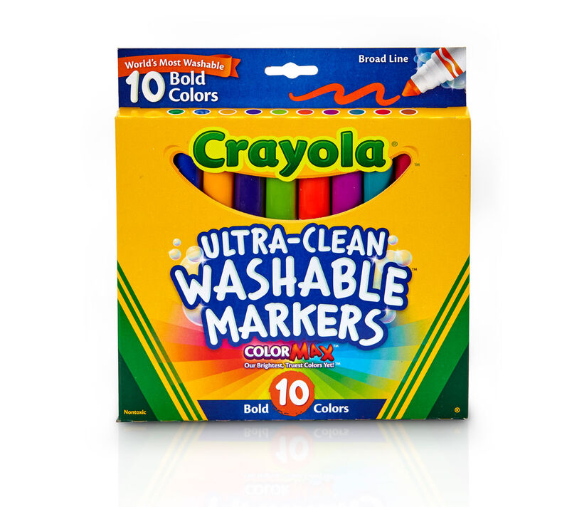Ultra-Clean Markers, Broad Line, Bold, 10 ct.