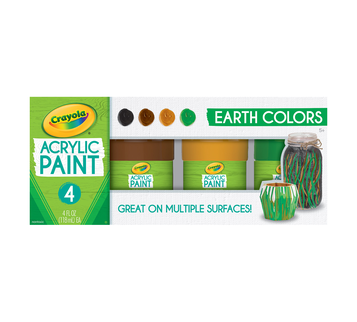Multi-Surface Acrylic Paint Earth Colors, 4 Count