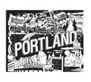 City Escapes Coloring Book Portland Line art