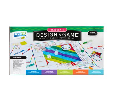 creatED® STEAM Design-a-Game for Classrooms for Grades 4-5
