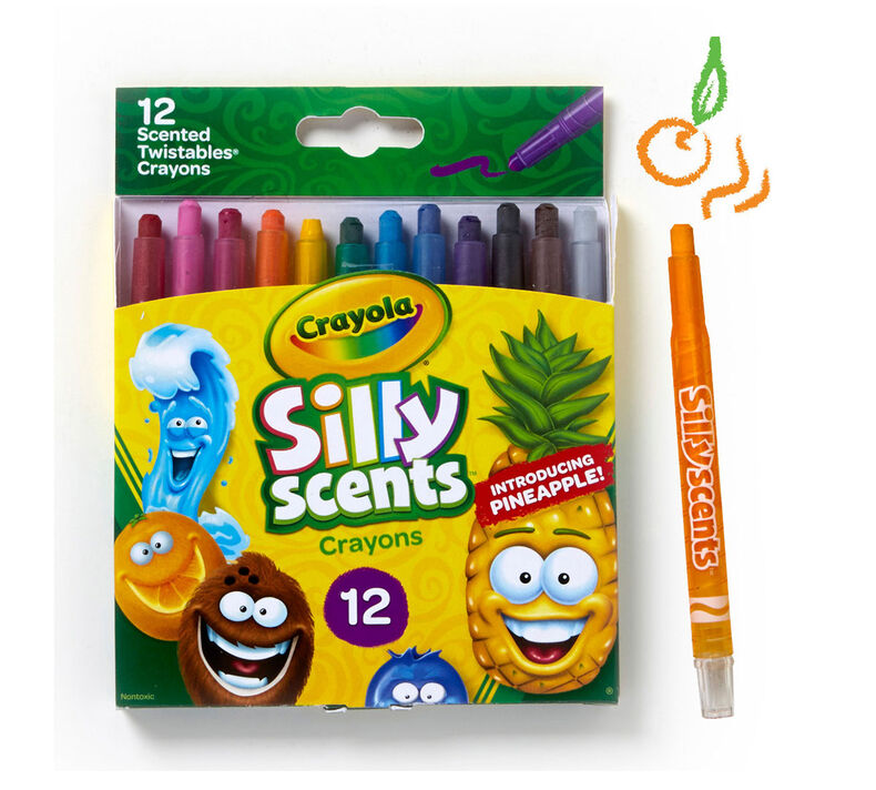 Silly Scents Mini Twistables Crayons, Sweet Scents, 12 Count