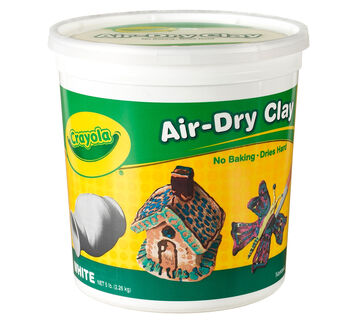 5 lb Air-Dry Clay Resealable Bucket - White