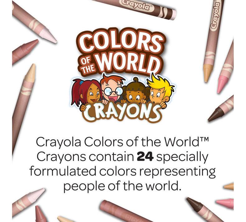 6 Sets of 24 New Crayon Colors Crayola Bulk Crayon Set Colors of The World Multicultural Crayons
