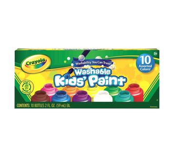 Washable Kids Paint, 10 Count Front View