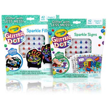 Glitter Dots 2-in-1 Sparkle Craft Kit Front View