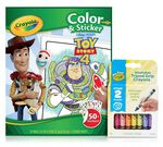 Toy Story 4 Color & Sticker Book with Triangle Crayons Front View