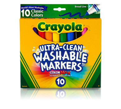 Ultra-Clean Markers, Broad Line, Classic Colors, 10 Count