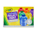 Washable Metallic Paint, 6 Count Front View