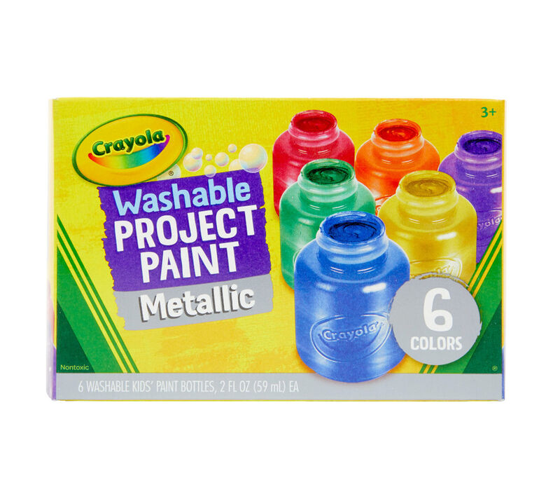 Washable Metallic Paint, 6 Count