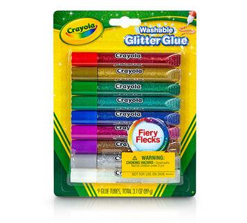 Washable Glitter Glue Fiery Flecks 9 count front