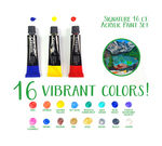 16 count Signature Series Acrylic Paints tin open