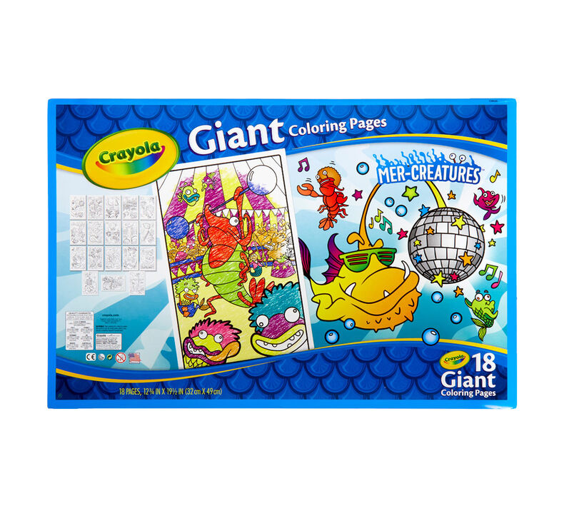 Mer-Creatures Giant Coloring Pages