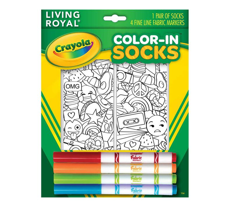 Crayola Color In Socks Stickers