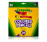 Colored Pencils, 50 Count Long Front View