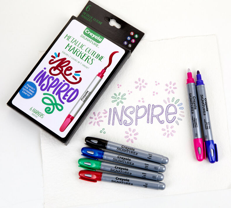 Signature Metallic Outline Markers & Canvas Set