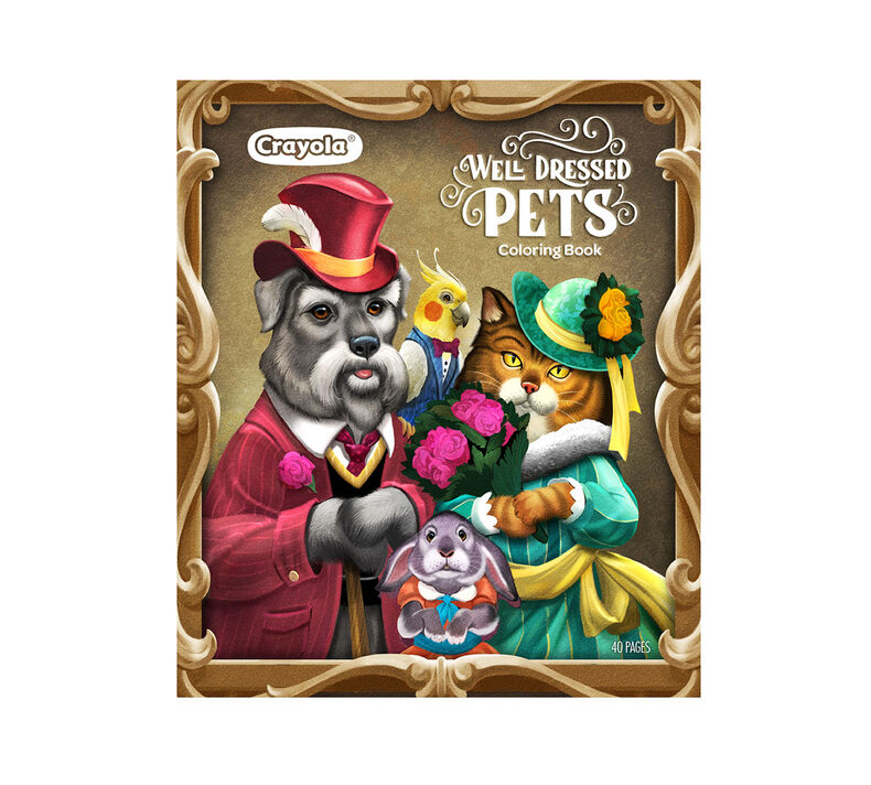 Well Dressed Pets Coloring Book