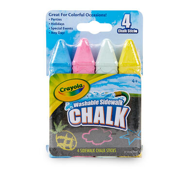 Washable Sidewalk Chalk, 4 Count