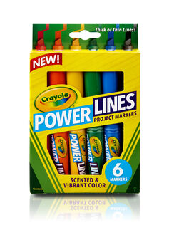 Power Lines Washable Project Markers with Scents, 6 Count