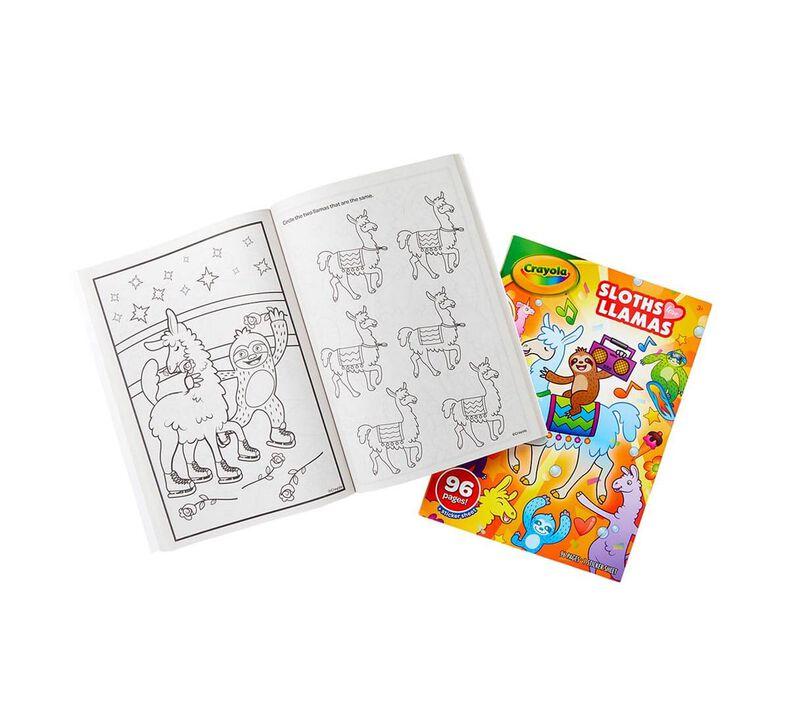 Sloths Love Llamas Coloring Book