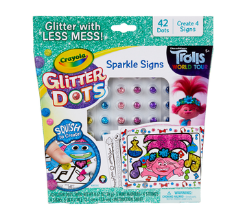 Glitter Dots Trolls World Tour Sparkle Signs