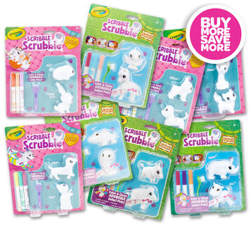 Scribble Scrubbie Pets and Safari 2 Pack You Pick Set